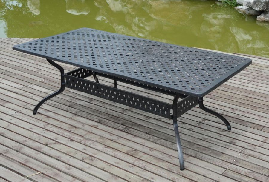 Cast Aluminium Table 2.1M x 1.08M