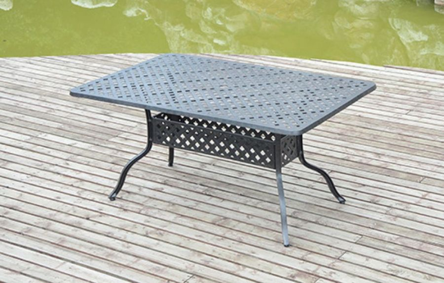 Cast Aluminium Table 150cm x 97cm