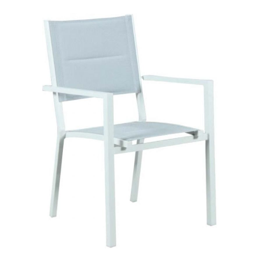 matte white padded dining chair