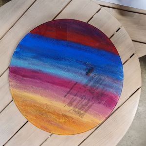 Hand painted 46cm Lazy susan