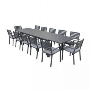Eclipse Extension Dining Table – Gunmetal